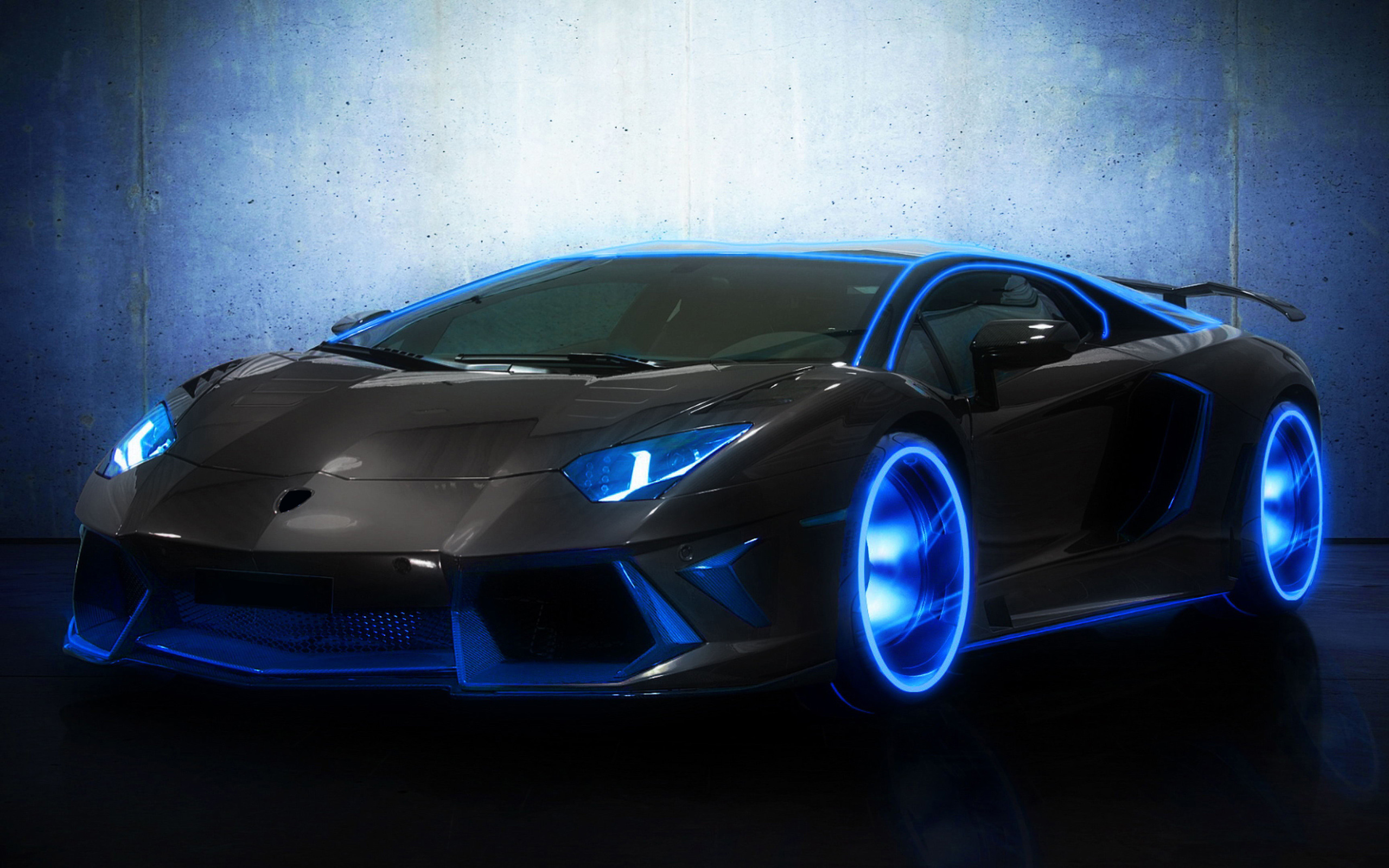 Lamborghini Aventador Bluelamborghini Aventador Black And Blue